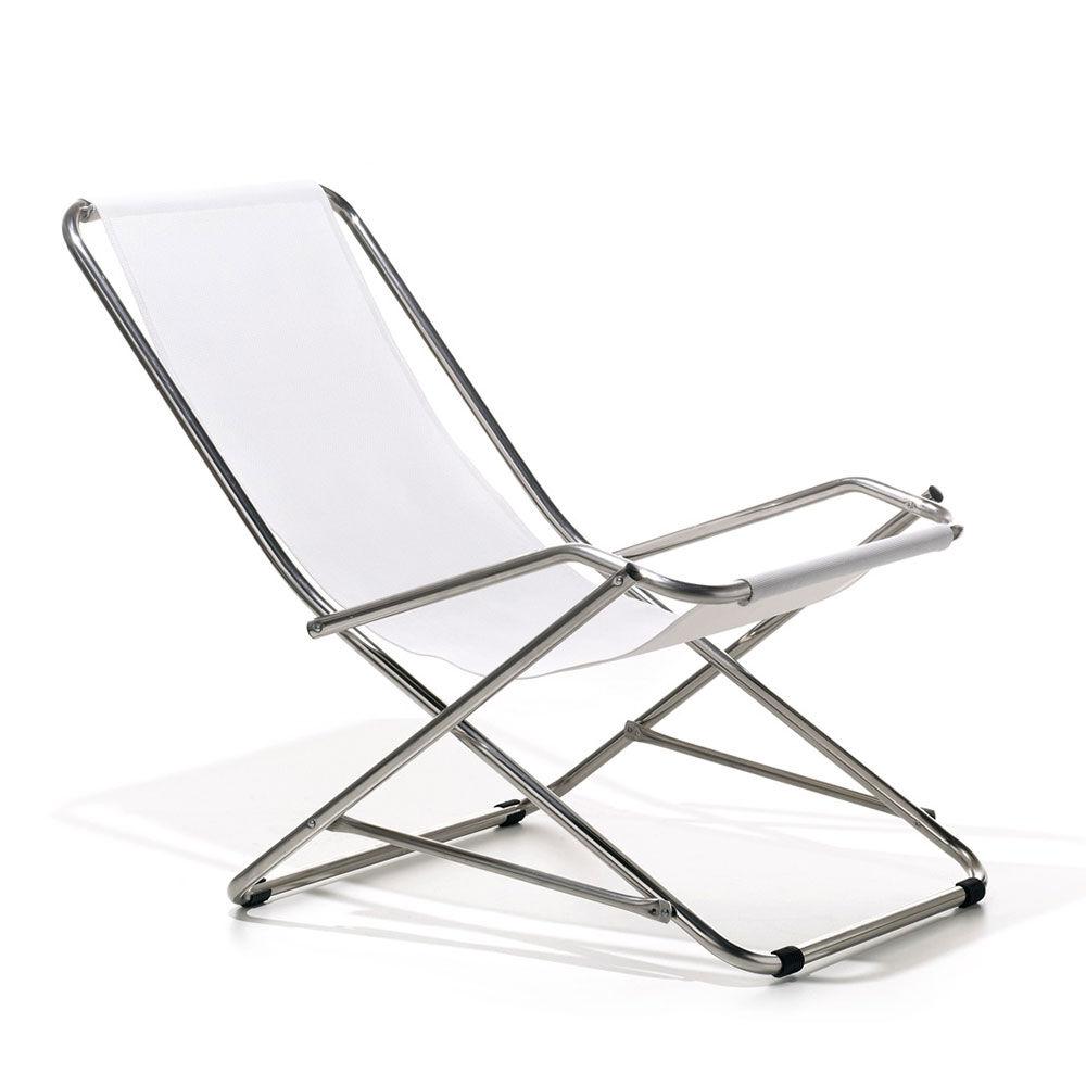 Fiam Dondolina Deck Chair, White