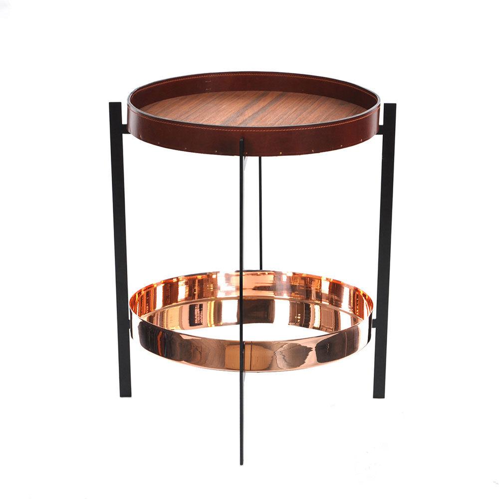 OX Denmarq Deck Sivupöytä, Kupari/Tiikki