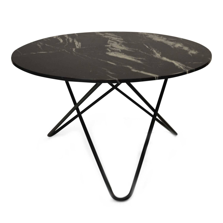 OX Denmarq Big O Pöytä, Musta Marmori/Musta