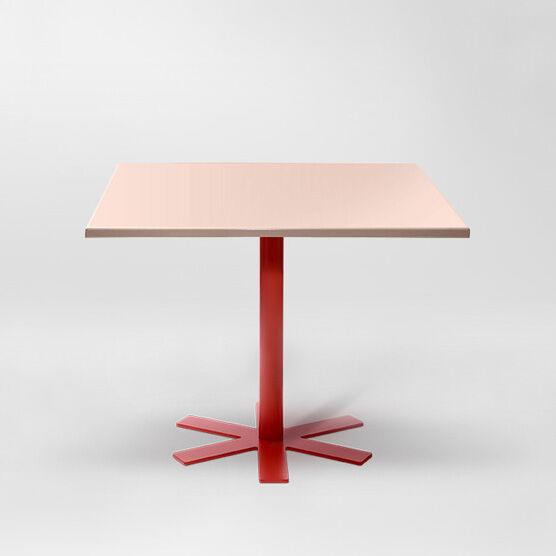 Petite Friture Parrot Pöytä 90x90cm, Vaaleanpunainen