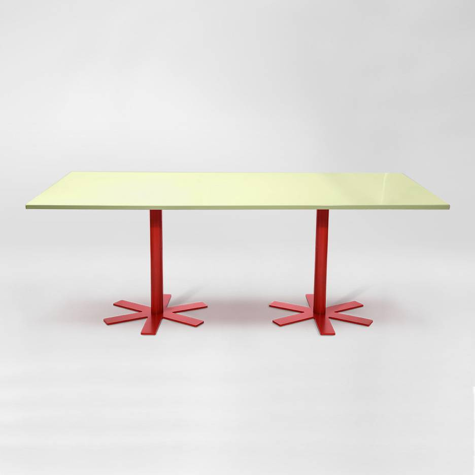 Petite Friture Parrot Pöytä 90x200cm, Vaaleanpunainen