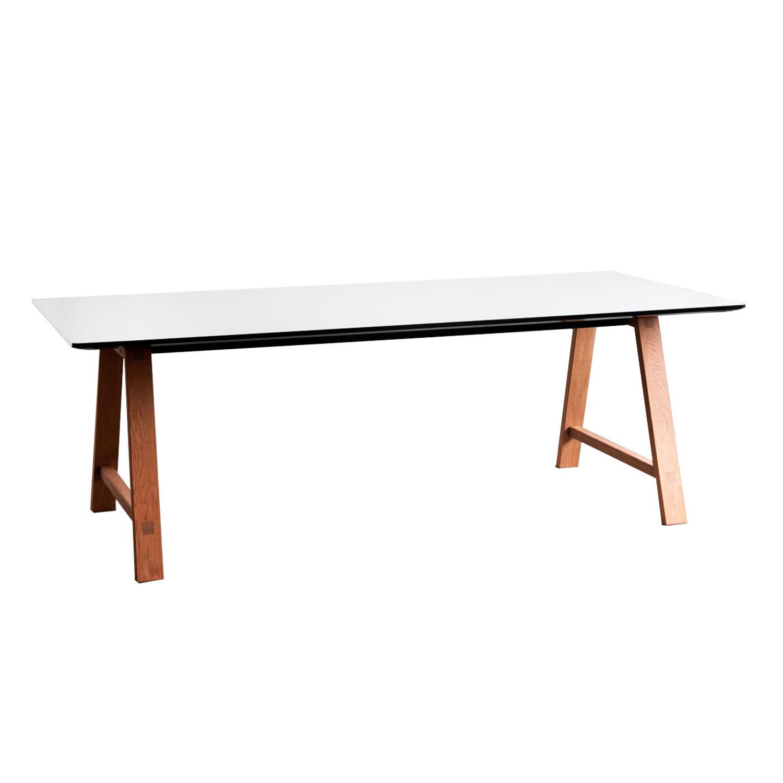 Andersen T1 Pöytä 95x220cm, Öljytty Tammi/Valko Laminaatti