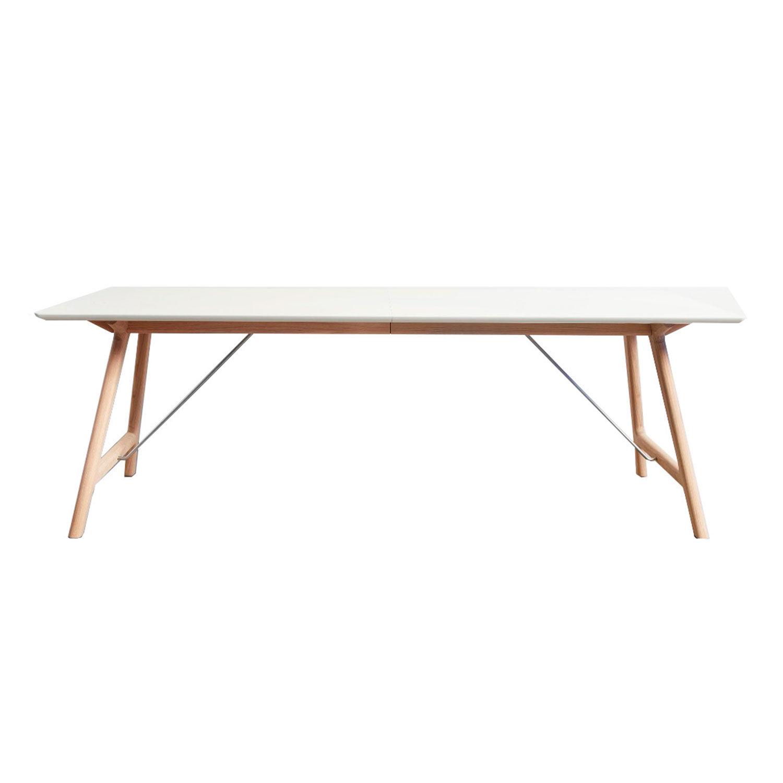 Andersen T7 Pöytä 95x220cm, Tammi/Valkoinen Laminaatti