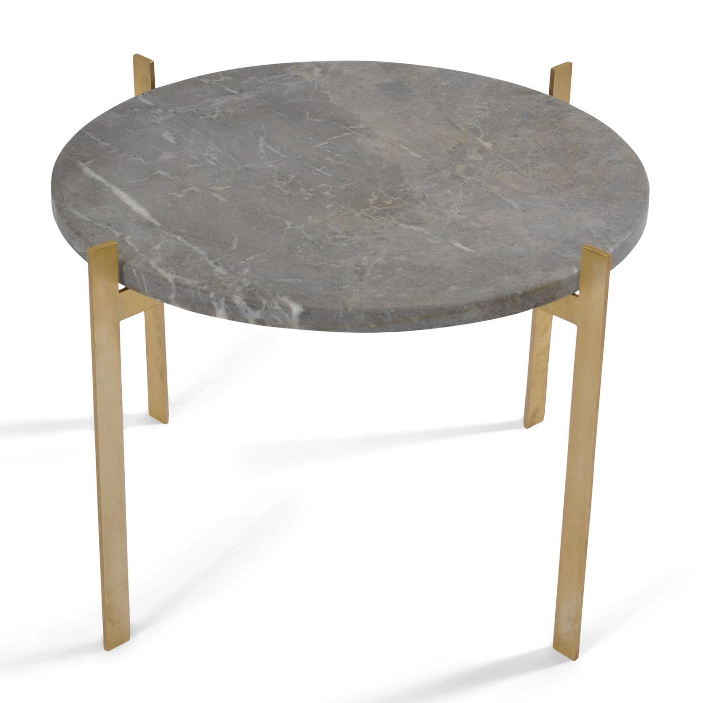 OX Denmarq Single Deck Pöytä, Harmaa Marmori/Messinki