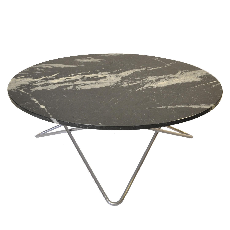 OX Denmarq Large O Pöytä, Musta Marmori/Teräs