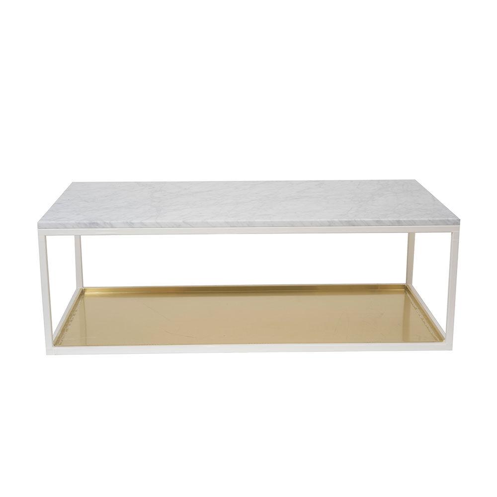 Scherlin Sohvapöytä 11, 120x60cm Marmori/Messinki