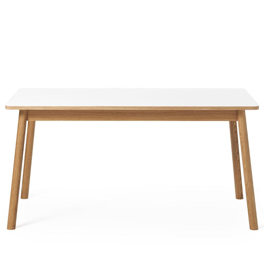 Zweed Dino+ Ruokapöytä, Tammi/Valkoinen Laminaatti