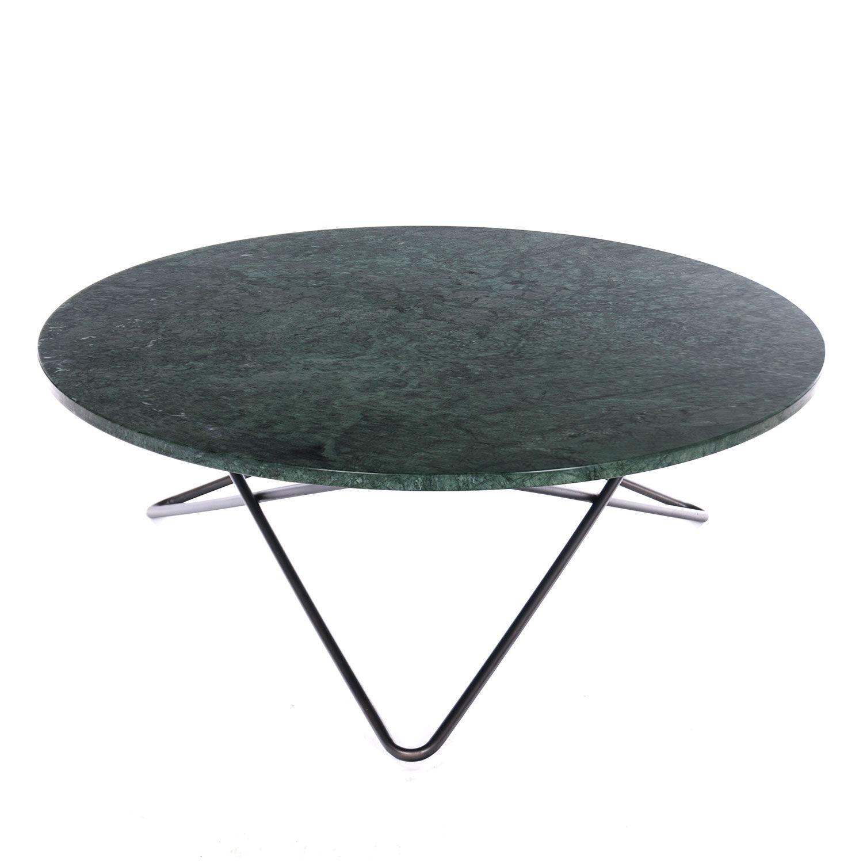 OX Denmarq Large O Pöytä, Vihreä Marmori/Musta