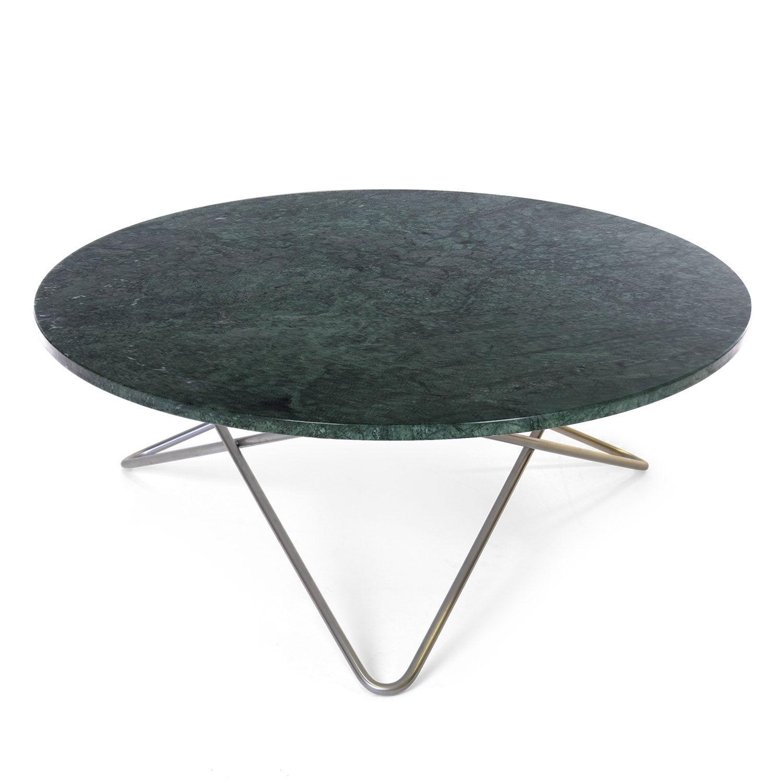 OX Denmarq Large O Pöytä, Vihreä Marmori/Teräs