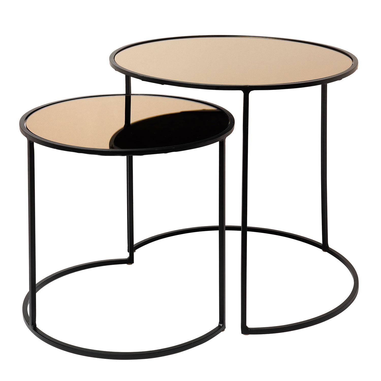 Broste Copenhagen Stends Pöytä 2-pakkaus, Musta/Ruskea