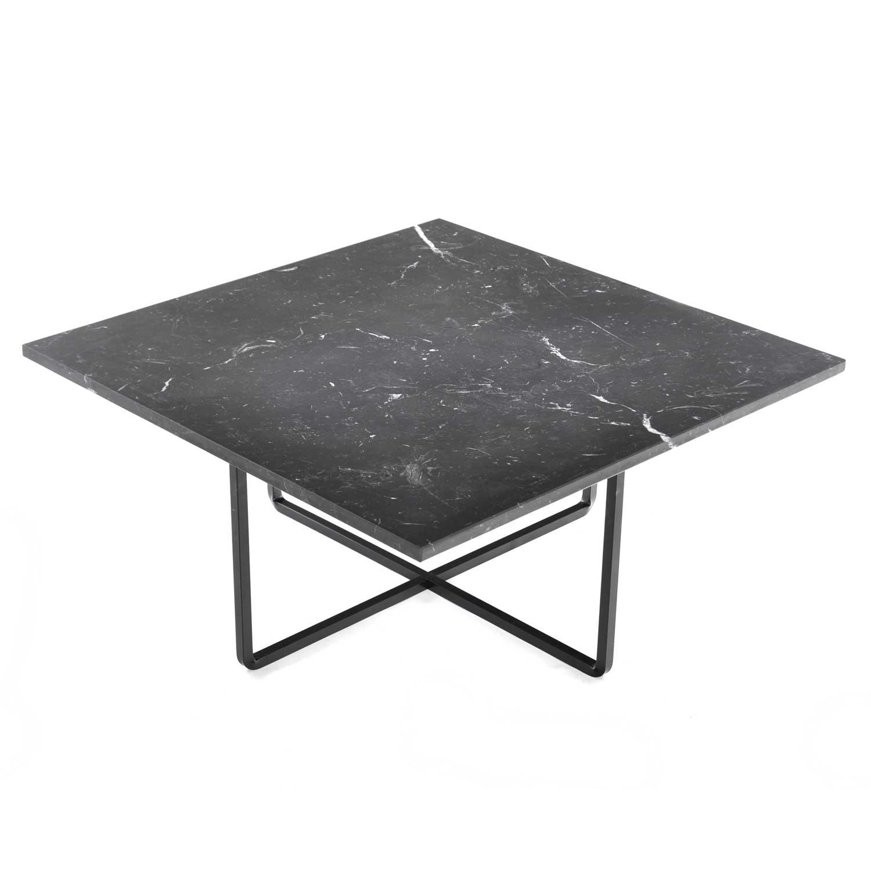 OX Denmarq Ninety Sohvapöytä 80x80x35 cm, Marquina/Musta