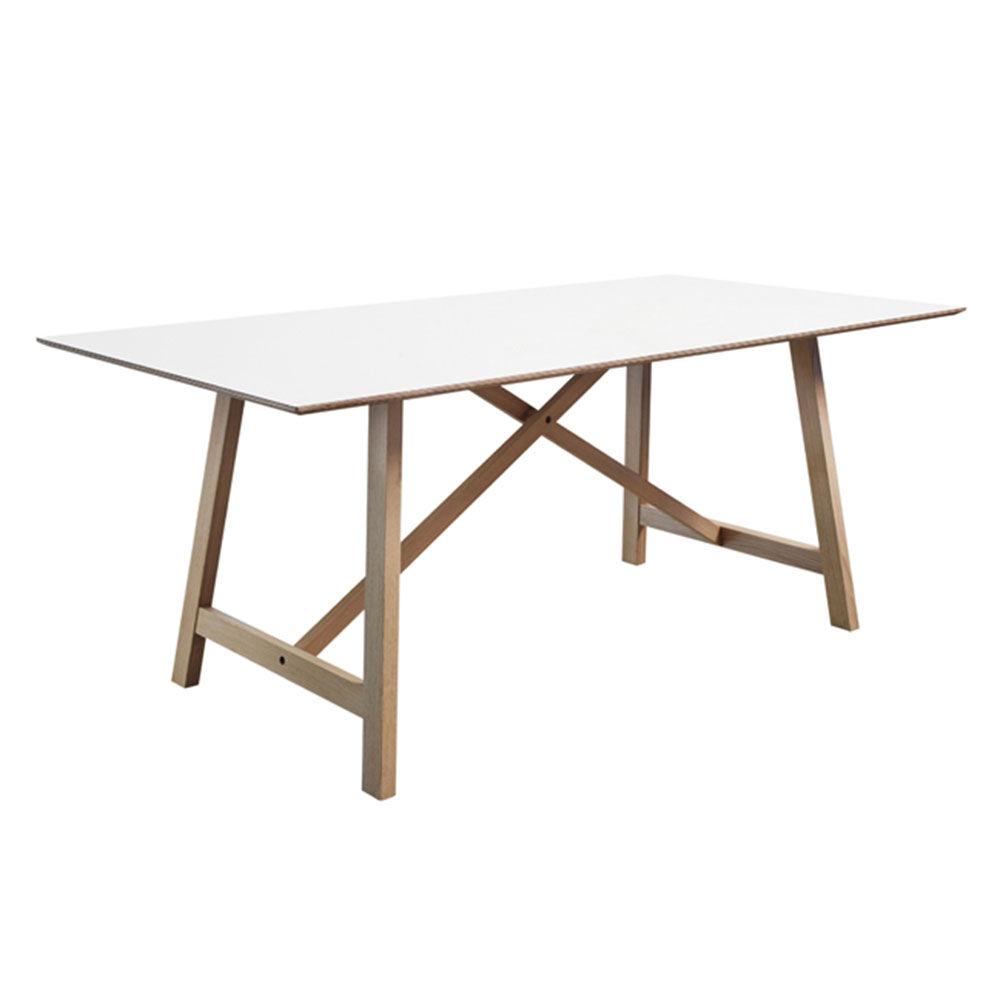 Andersen T6 Pöytä 90x180cm, Tammi/Valkoinen Laminaatti