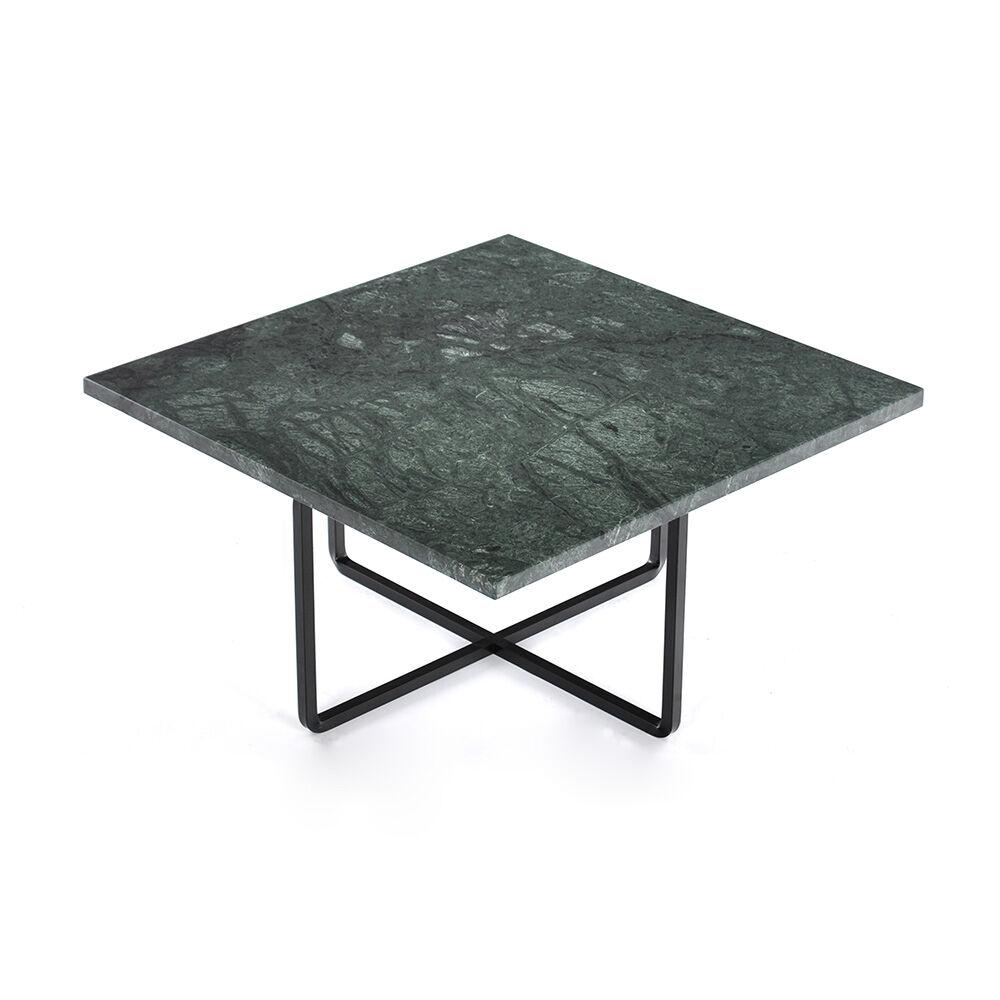 OX Denmarq Ninety Sohvapöytä 60x60cm, Vihreä Marmori/Musta