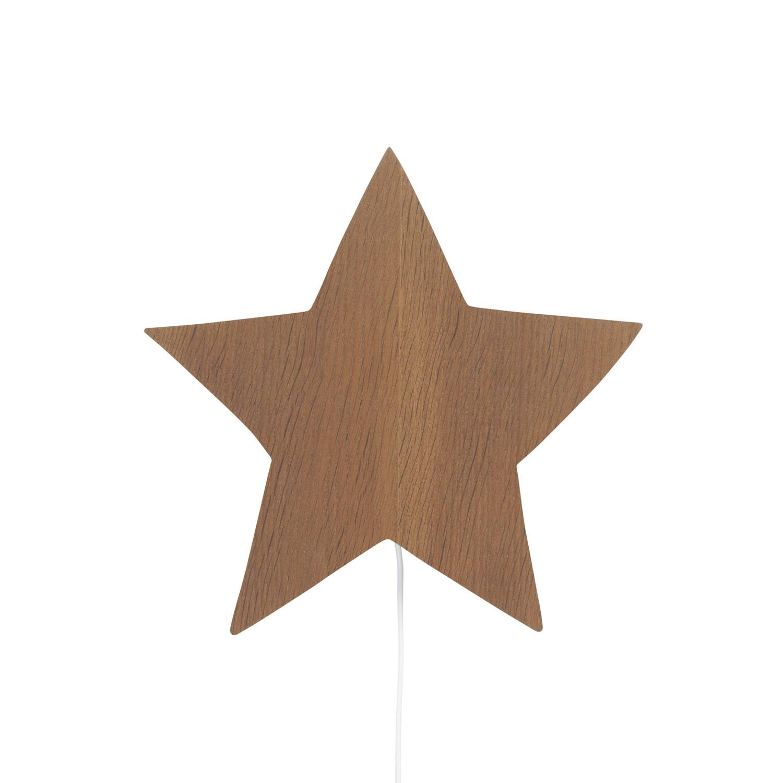 Ferm Living KIDS Star Wall Lamp, Smoked Oak