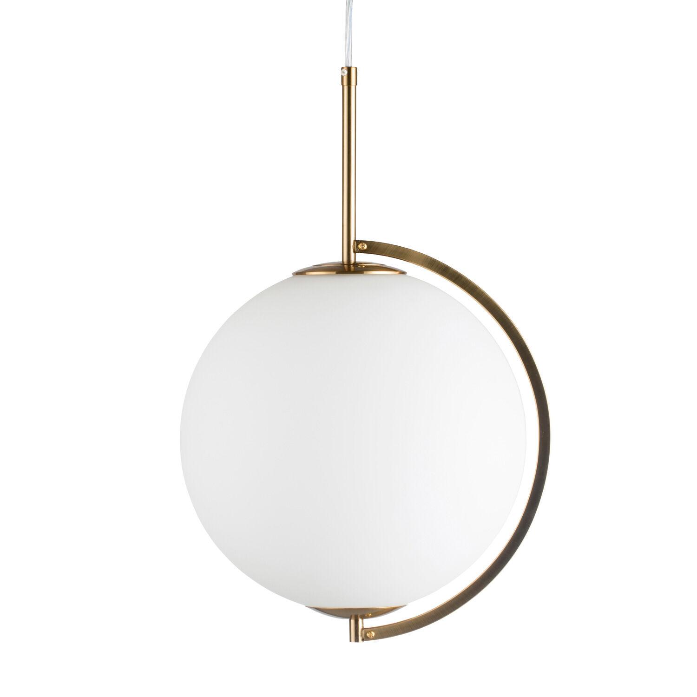 Lene Bjerre Hokona Pendant, Light Gold/White