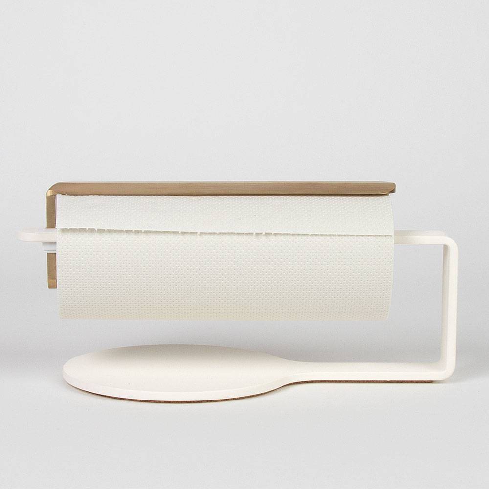 Scandinavian Design Factory Curve Talouspaperinpidike, Valkoinen/Messinki