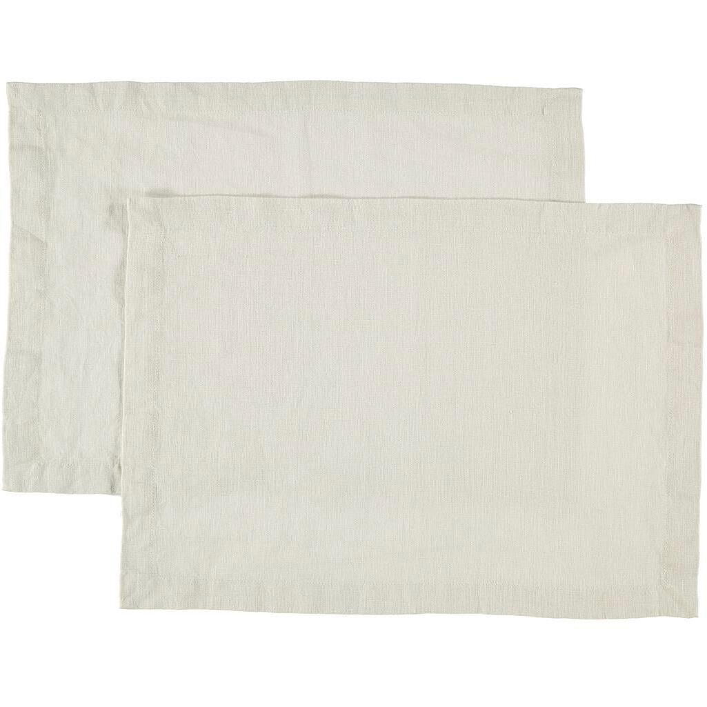 Gripsholm Linen Placemat 35x45 cm 2 pack, Nature