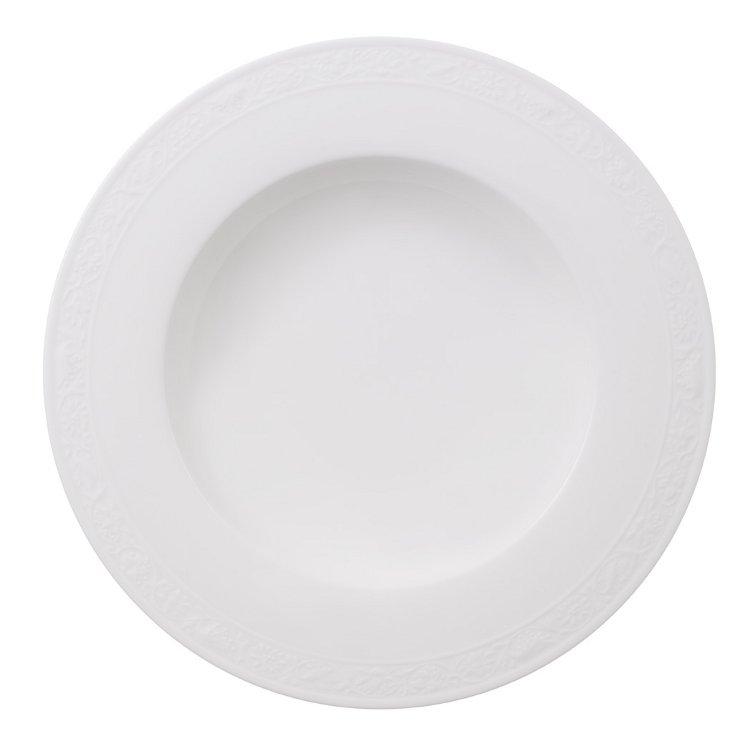 Villeroy & Boch White Pearl Lautanen Syvä, 24cm
