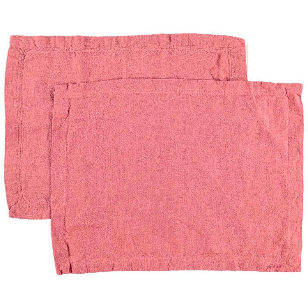 Gripsholm Linen Placemat 35x45 cm 2 pack, Rouge