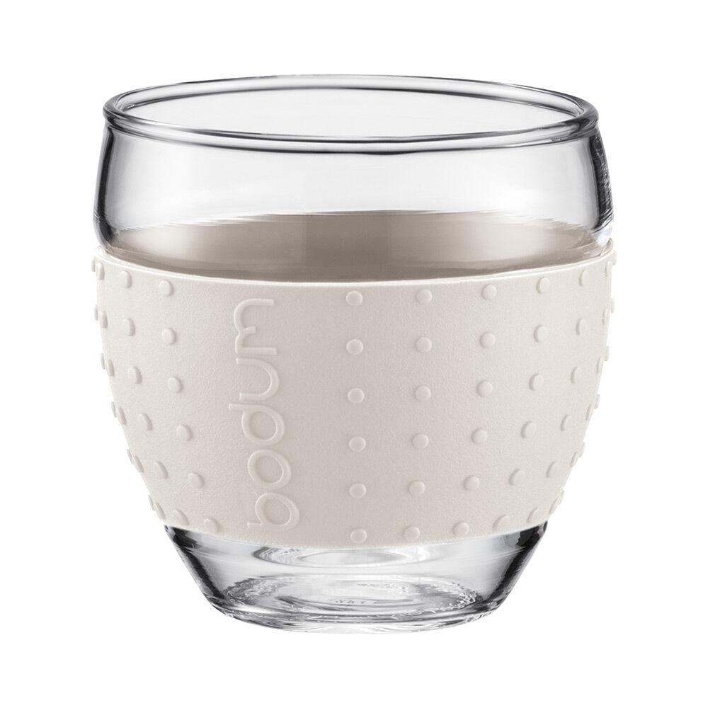 Bodum PAVINA Lasi silikonilla, 2-pakkaus, 10cl Valkoinen