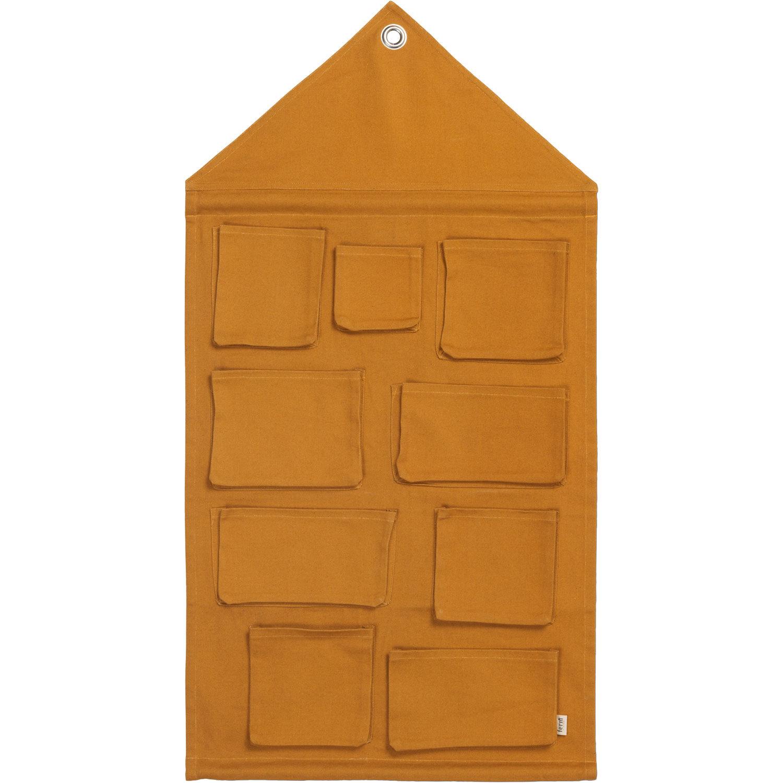 Ferm Living KIDS House Wall Storage, Mustard