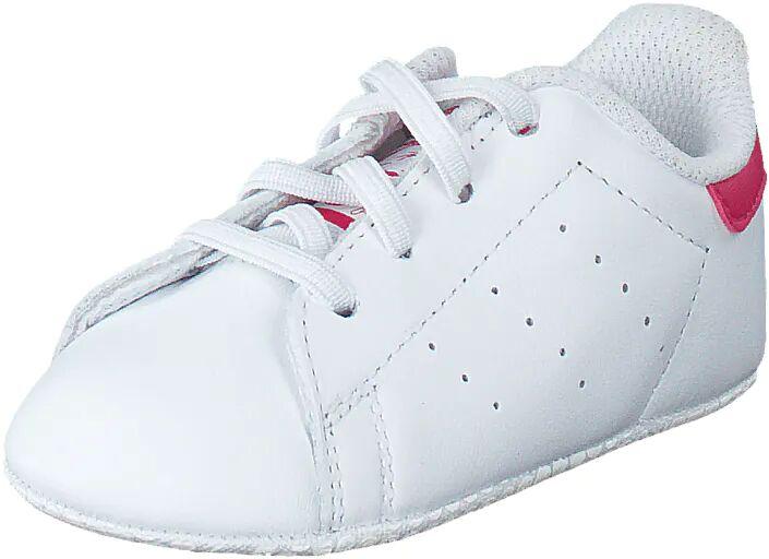 Image of Adidas Originals Stan Smith Crib Ftwr White/Bold Pink, Kengät, Sneakerit ja urheilukengät, Sneakerit, Valkoinen, Lapset, 18