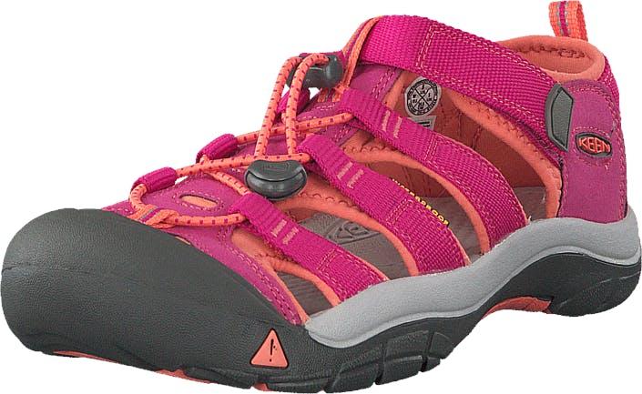 Keen Newport H2-Jr Very Berry/Fusion Coral, Kengät, Sandaalit ja tohvelit, Sporttisandaalit, Harmaa, Vaaleanpunainen, Lapset, 35