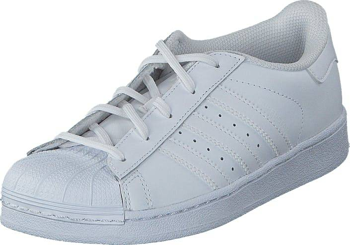 Image of Adidas Originals Superstar Foundation C Ftwr White/Ftwr White, Kengät, Sneakerit ja urheilukengät, Varrettomat tennarit, Valkoinen, Lapset, 28