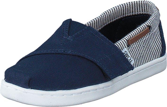 Toms Infant Navy Canvas/Stripes Navy, Kengät, Matalat kengät, Slip on, Sininen, Lapset, 24