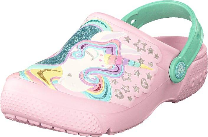 Image of Crocs Fun Lab Clog Kids Ballerina Pink/new Mint, Kengät, Sandaalit ja tohvelit, Crocsit, , Lapset, 19