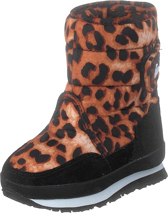 Rubber Duck Rd Print Kids Wild Animal, Kengät, Bootsit, Lämminvuoriset kengät, Musta, Punainen, Lapset, 34