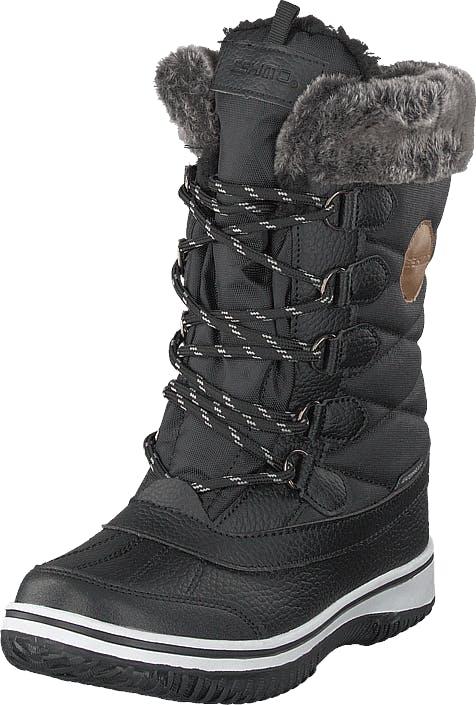 Eskimo Frosty Waterproof Black, Kengät, Saappaat ja saapikkaat, Lämminvuoriset talvisaappaat, Harmaa, Musta, Lapset, 35