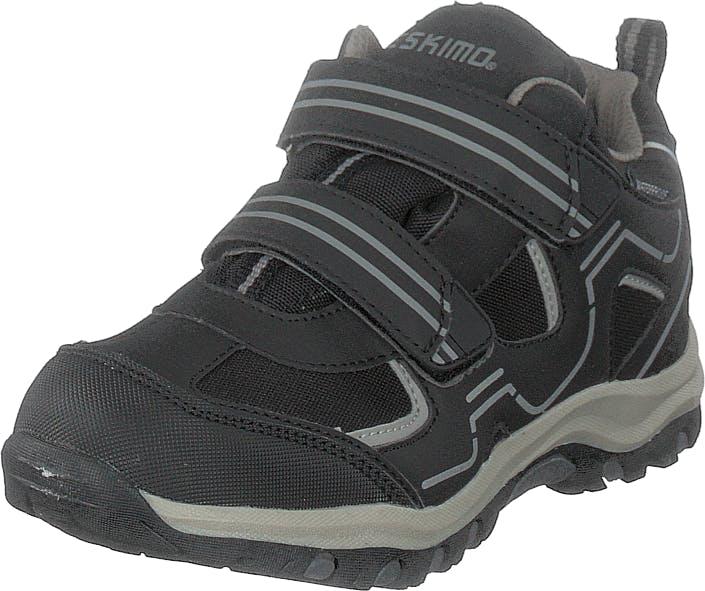 Eskimo Trapp Waterproof Black/grey, Kengät, Sneakerit ja urheilukengät, Tennarit, Musta, Lapset, 31