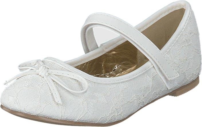 Wildflower Antonella White, Kengät, Matalat kengät, Maryjane-kengät, Valkoinen, Lapset, 33