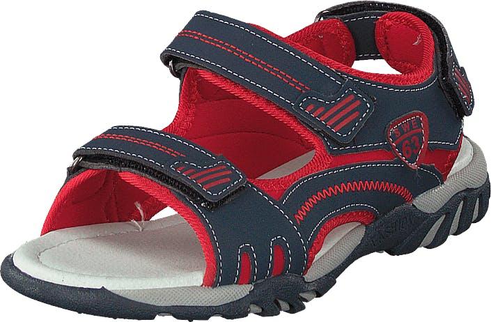 Gulliver 433-0232 Navy Red, Kengät, Sandaalit ja Tohvelit, Sporttisandaalit, Punainen, Sininen, Lapset, 24