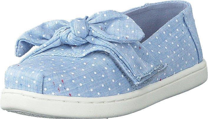 Toms Bliss Speckled Chambray Dots Light Blue, Kengät, Matalat kengät, Slip on, Sininen, Lapset, 24