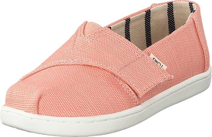 Toms Coral Pink Heritage Canvas Coral, Kengät, Matalapohjaiset kengät, Slip on, Beige, Vaaleanpunainen, Lapset, 24