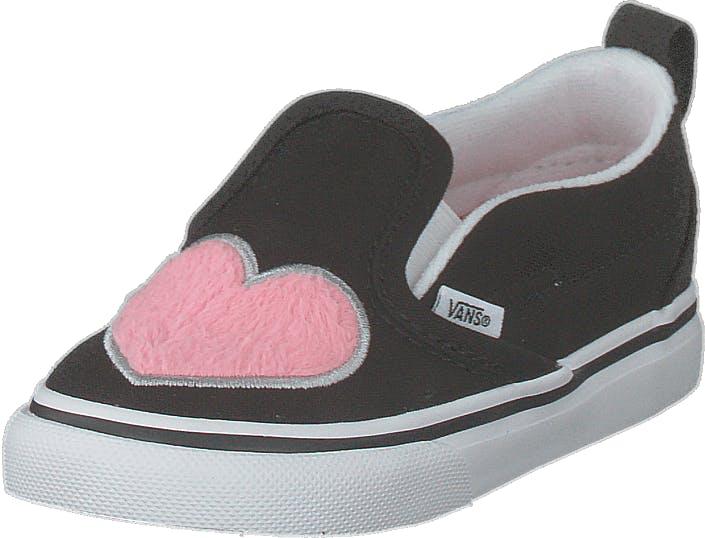 Vans Td Slip-on V (fur Heart) Strawberry Pink, Kengät, Matalat kengät, Slip on, Sininen, Musta, Lapset, 24