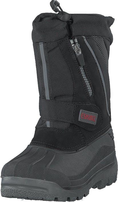 Eskimo Scooter Black, Kengät, Bootsit, Lämminvuoriset kengät, Musta, Lapset, 34