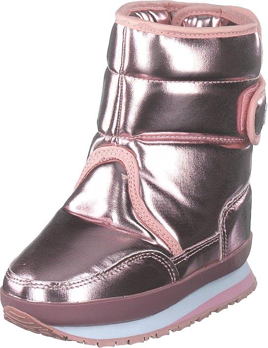 Rubber Duck Rd Patent Pu Kids Pink Pearl, Kengät, Bootsit, Lämminvuoriset kengät, Ruskea, Vaaleanpunainen, Violetti, Lapset, 34