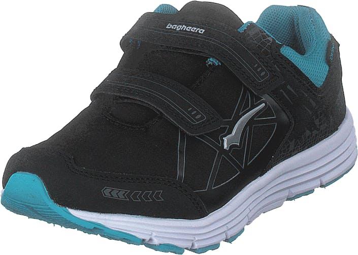 Bagheera Pico Black/turquoise, Kengät, Tennarit ja Urheilukengät, Tennarit, Musta, Lapset, 25