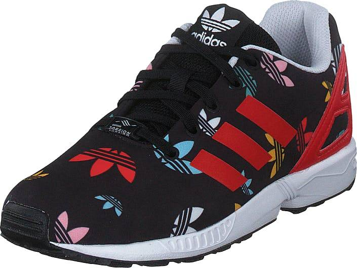 Adidas Originals Zx Flux C Core Black/lush Red/ftwr White, Kengät, Tennarit ja Urheilukengät, Sneakerit, Musta, Punainen, Lapset, 29