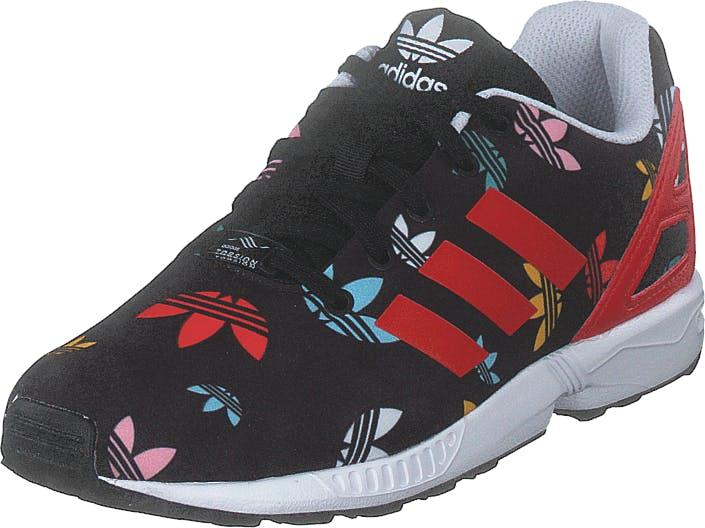 Adidas Originals Zx Flux C Core Black/lush Red/ftwr White, Kengät, Tennarit ja Urheilukengät, Sneakerit, Musta, Punainen, Lapset, 31