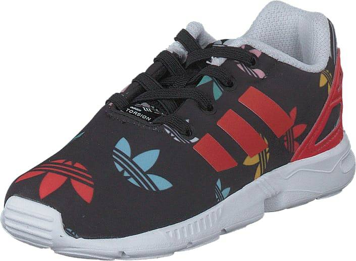 Adidas Originals Zx Flux El I Core Black/lush Red/ftwr White, Kengät, Tennarit ja Urheilukengät, Sneakerit, Musta, Punainen, Lapset, 21