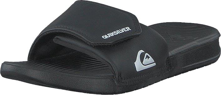 Quiksilver Bright Coast Adjust Black/white/black, Kengät, Sandaalit ja Tohvelit, Remmisandaalit, Musta, Unisex, 37