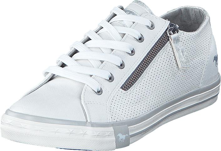 Mustang 1146302 1 White, Kengät, Sneakerit ja urheilukengät, Varrettomat tennarit, Valkoinen, Naiset, 37