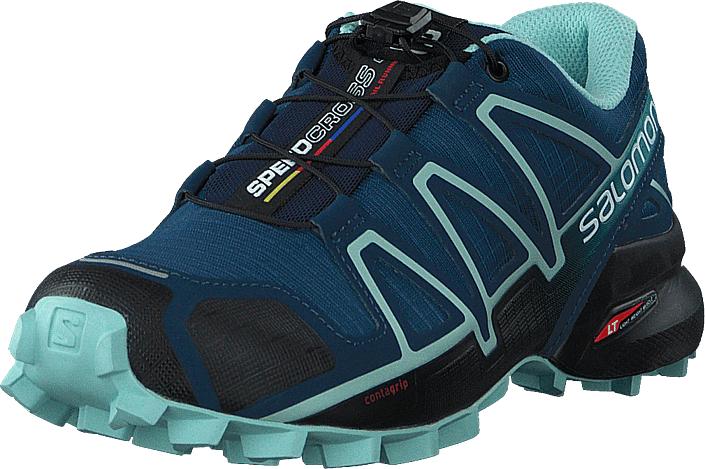 Salomon Speedcross 4 W Poseidon/Eggshell Blue/Black, Kengät, Sneakerit ja urheilukengät, Tennarit , Musta, Naiset, 37