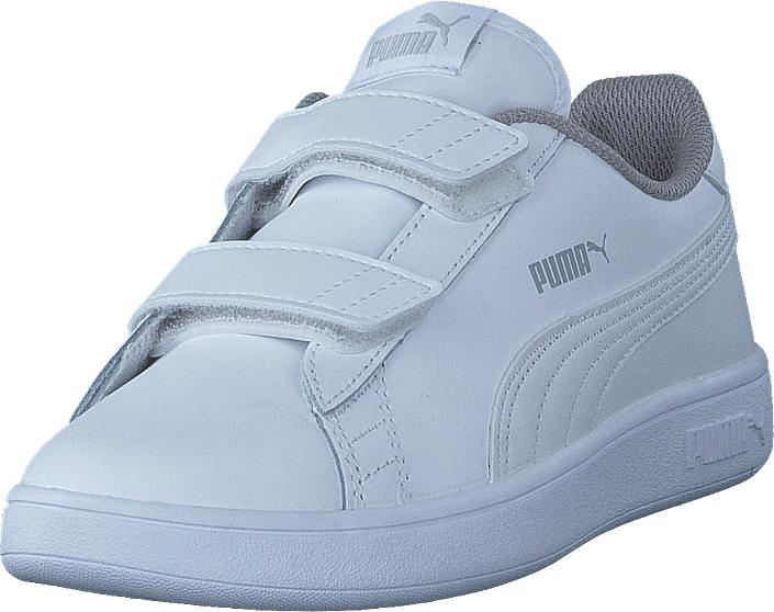 Puma Smash V2 L V Ps Puma White-puma White, Kengät, Sneakerit ja urheilukengät, Sneakerit, Sininen, Unisex, 32