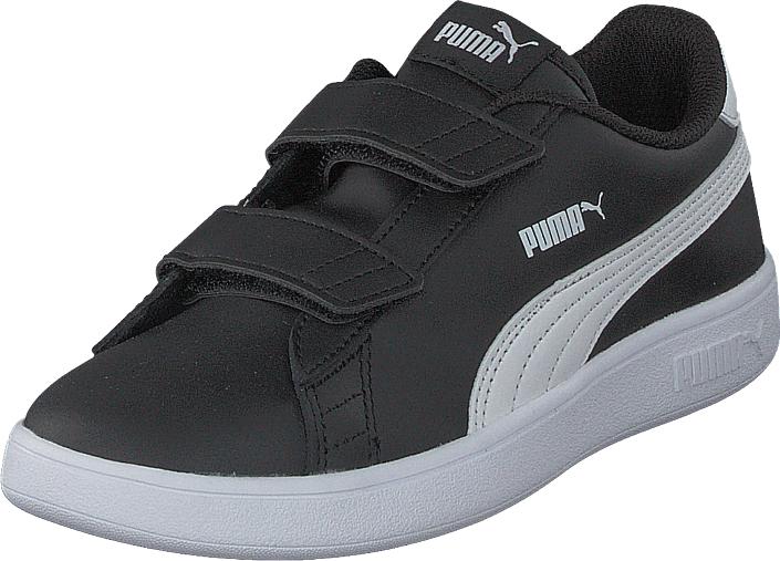 Puma Smash V2 L V Ps Puma Black-puma White, Kengät, Sneakerit ja urheilukengät, Sneakerit, Musta, Unisex, 32