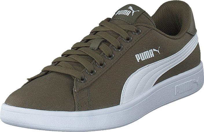 Puma Smash V2 Cv Puma Olive-puma White, Kengät, Sneakerit ja urheilukengät, Varrettomat tennarit, Ruskea, Miehet, 45